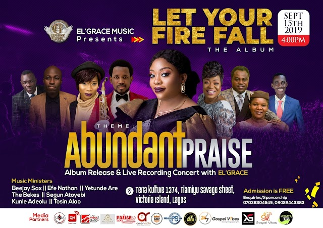 EVENT: El' Grace set to premiere her debut album with Live Recording Concert - Abundant Praise!!