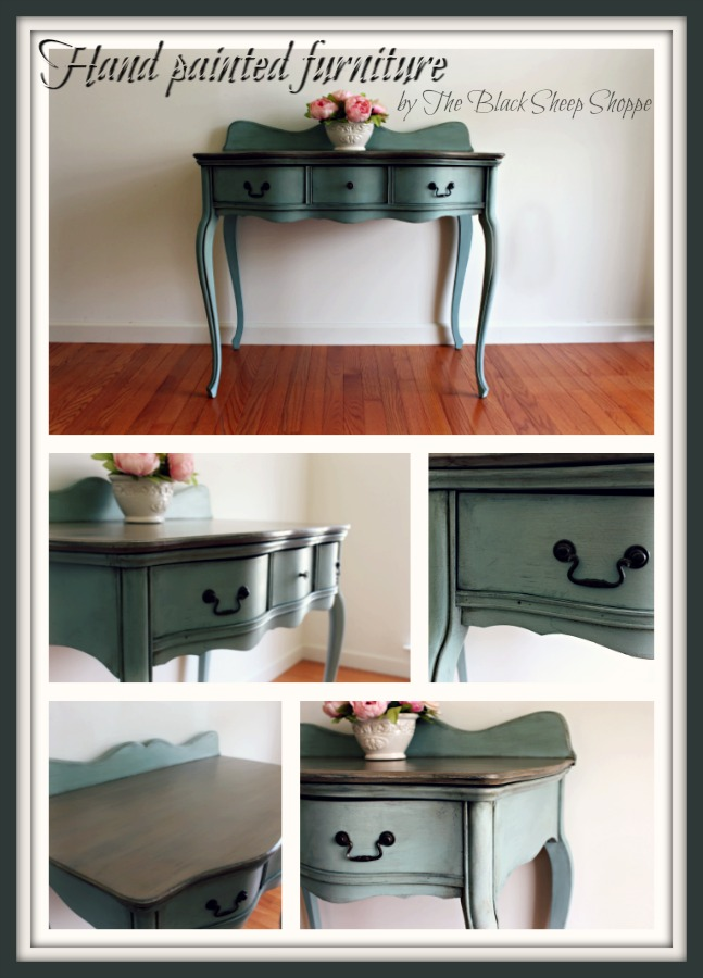 Hand painted in Duck Egg Blue by The Black Sheep Shoppe.