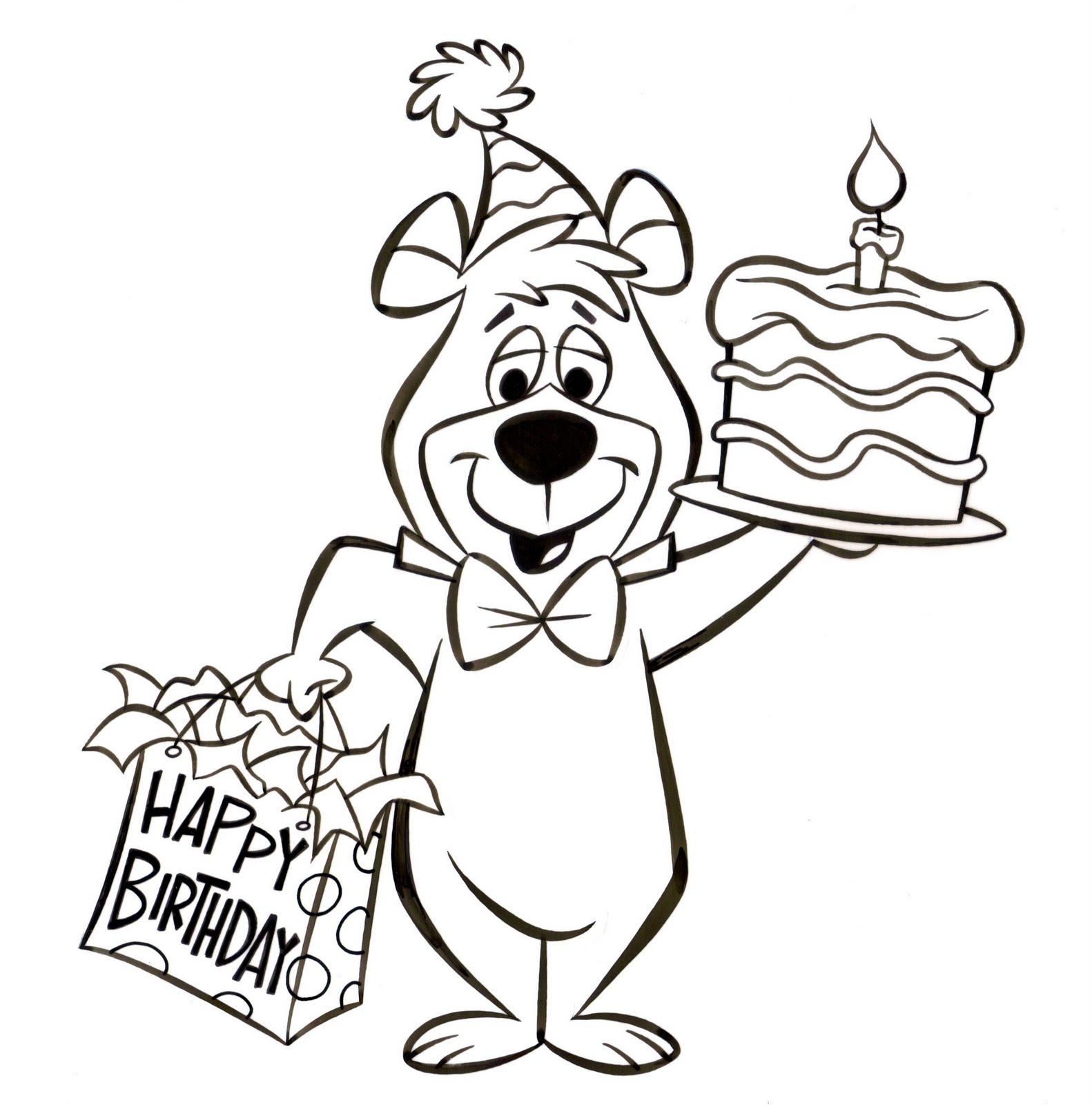 patrick owsley cartoon art and more! yogi bear birthday art!