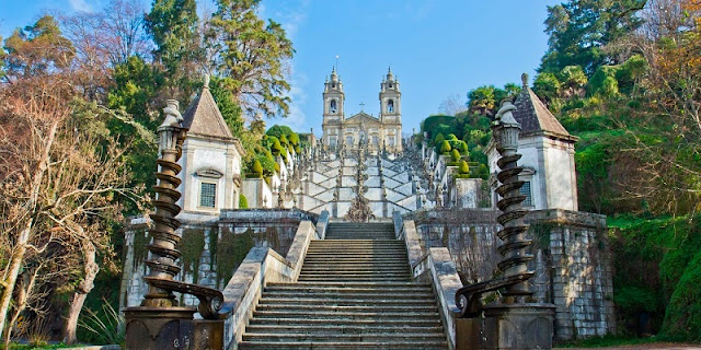 Região do Bom Jesus do Monte em Braga