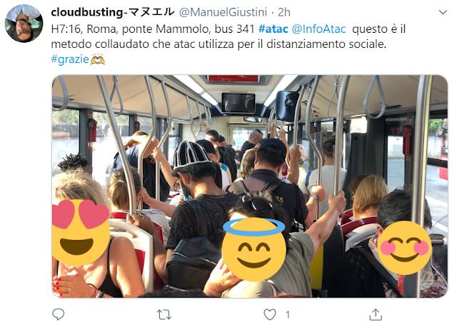 Assembramenti sui bus - le linee più affollate di Roma