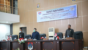 DPRD Boltim Rapat Paripurna Pengumuman Akhir Masa Jabatan Bupati dan Wakil Bupati Periode 2016-2021