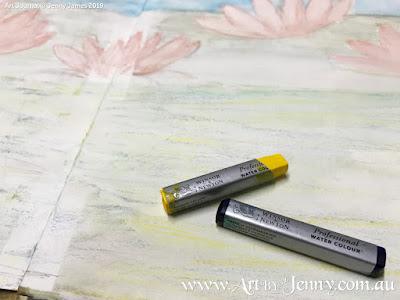 Haiku Artwork by Jenny James showing the Winsor & Newton Paint Sticks
