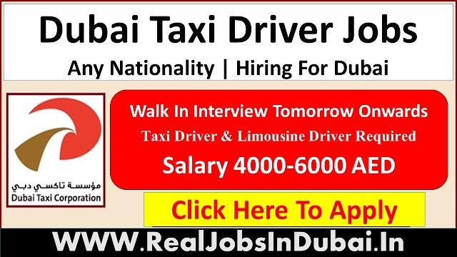Dubai Taxi Driver Jobs  UAE 2021