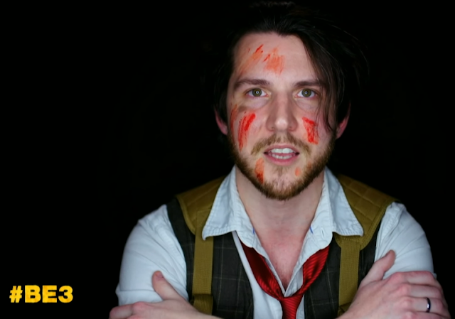 Bethesda E3 2019 BE3 bloody face paint fan testimonial