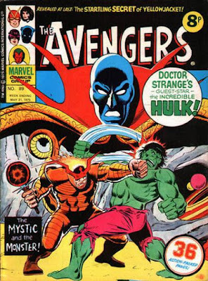 Marvel UK, The Avengers #89, Dr Strange, the Hulk and the Night-Crawler