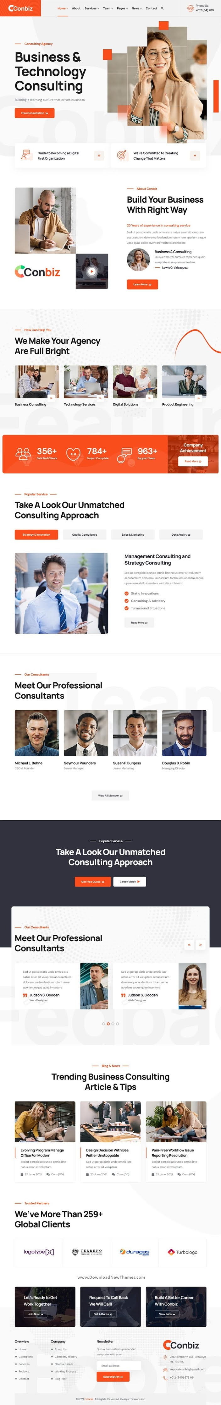 Consultancy & Business HTML Template