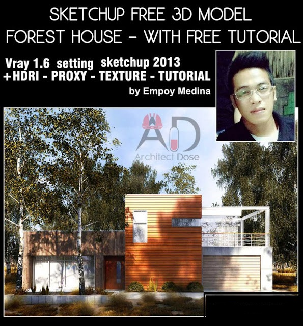Sketchup Free 3D Model - Forest House - With Free Tutorial