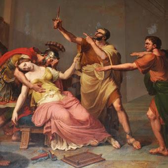 L'uccisione di Lucrezia, attorniata dai propri cari