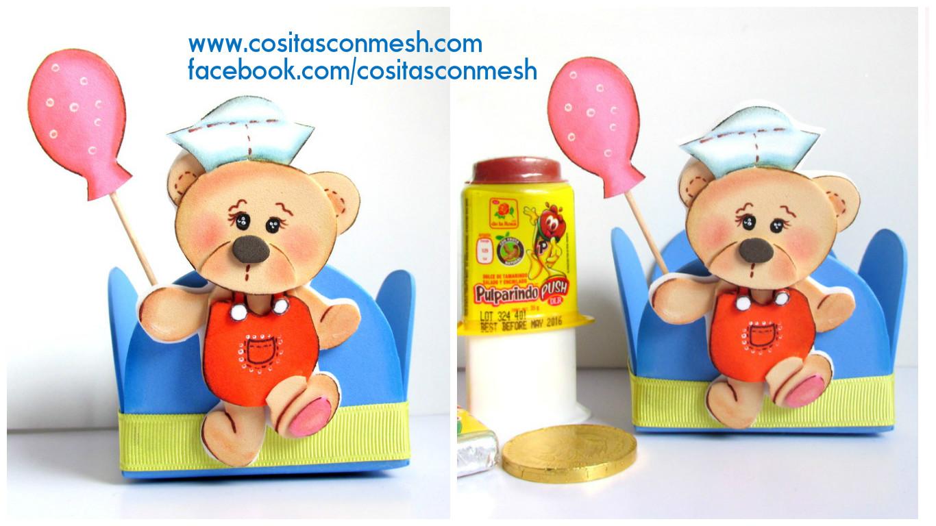 a8311f550 Cómo hacer dulceros bonitos en foami para día del niño ~ cositasconmesh