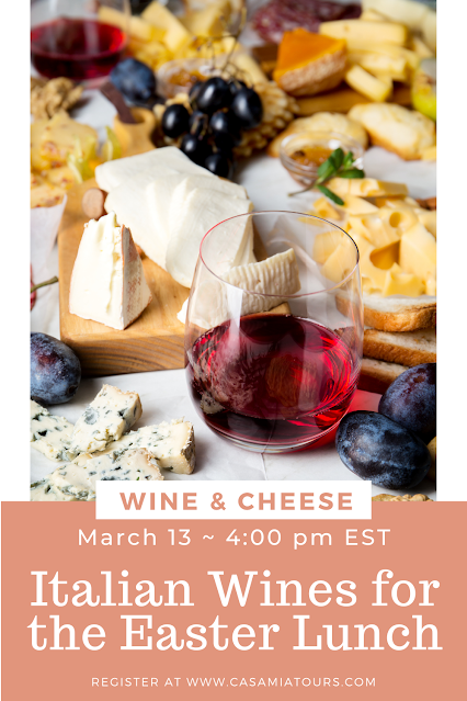 Italian wine and cheese pairing for the easter lunch