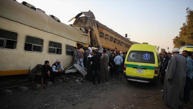 """القاهرة تعلن نتائج تحقيقات حادث القطار: """"تعاطي مخدرات وإهمال"""""""