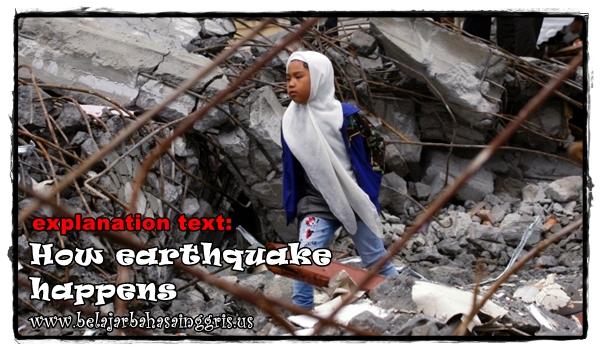 Contoh Explanation Text tentang Bagaimana Gempa Bumi Terjadi | www.belajarbahasainggris.us