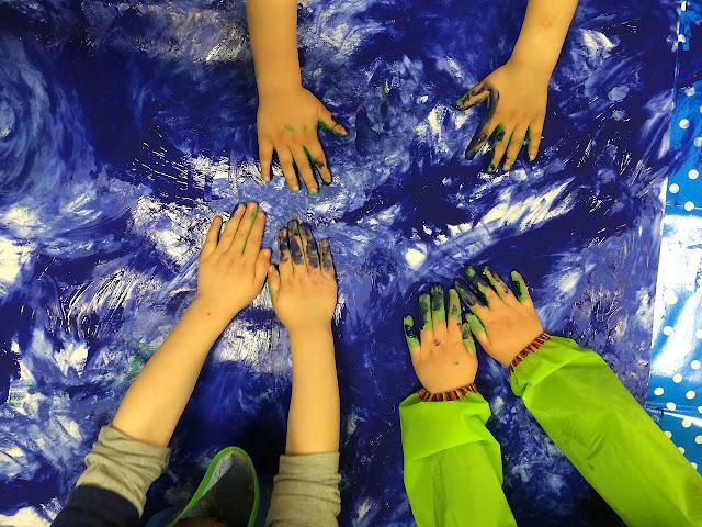 bahan finger painting