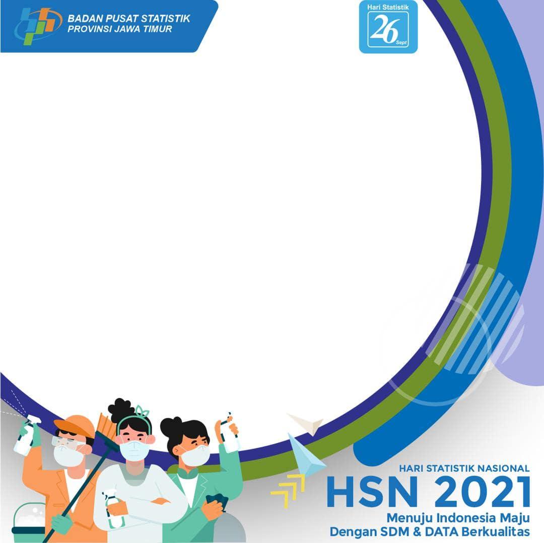 Download Bingkai Foto Twibbon HSN 26 September 2021, Hari Statistik Nasional 2021