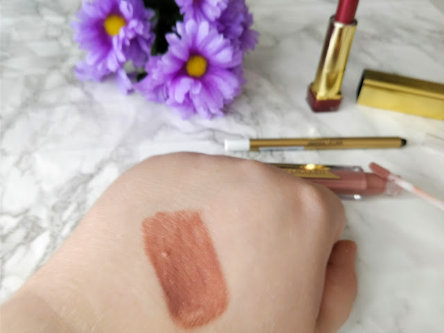 Swatch of Max Factor Honey Lacquer Lipstick in Honey Nude