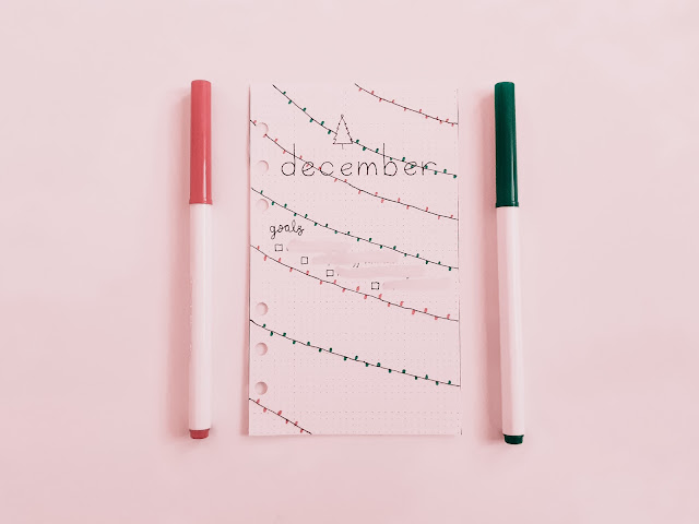 Plan With Me December Bullet Journal Layouts