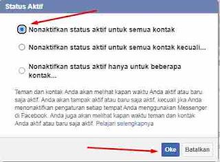 Cara Mematikan Status Aktif di FB