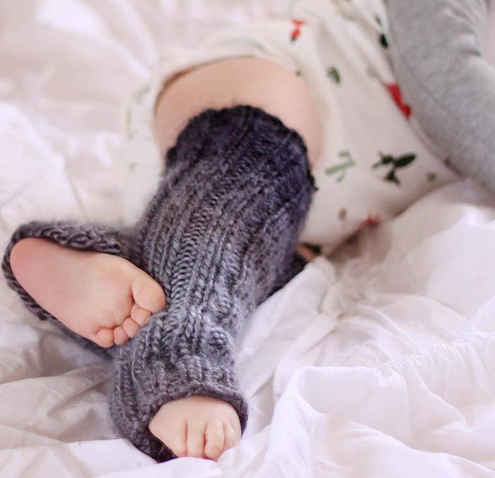 Knitting Pattern Leg Warmers Straight Needles : Gina Michele: Baby Ombre Leg Warmers Knitting Pattern