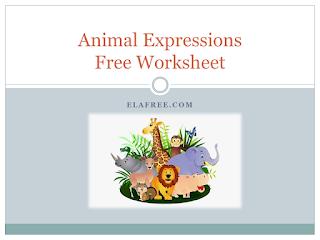 Animal Expressions Free Worksheet