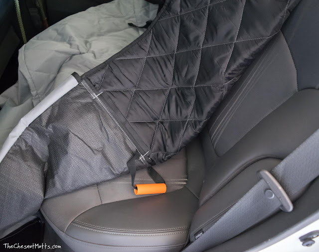 installing my 4Knines seat cover on my car