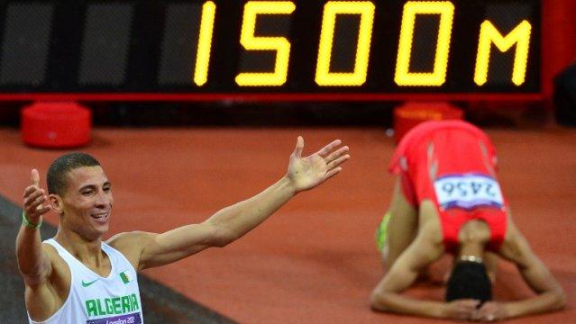 Atletismo medio fondo 1500 metros