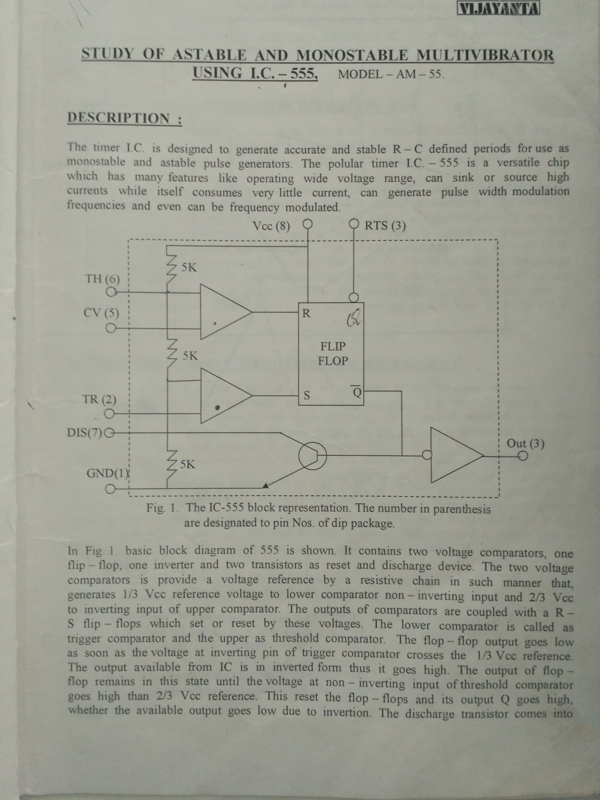 Some Related Things For Engineering Students Practical Files And Operation Of Monostable Multivibrator Mode 555 Timer Ic Study