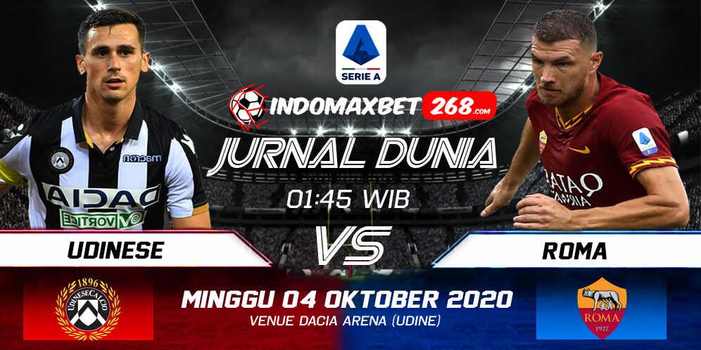 Prediksi Udinese Vs AS Roma 04 Oktober 2020 Pukul 01.45 WIB