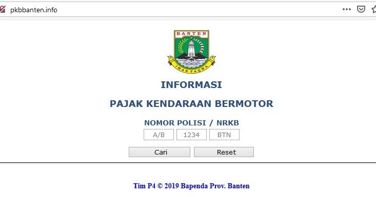 Cara Cek Pajak Kendaraan Bermotor Banten Online (Informasi ...