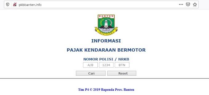 Cara Cek Pajak Kendaraan Bermotor Banten Online (Informasi PKB Banten) UPDATE 2020
