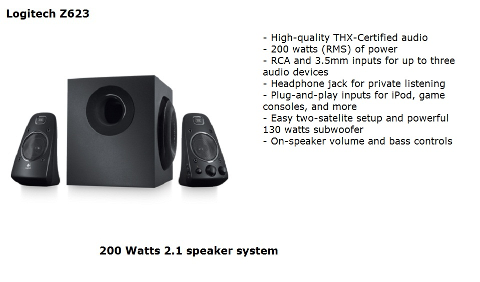 Test and Review: Logitech Z623 speakers test and review