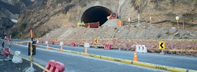 Importante Túnel en la Carretera Central