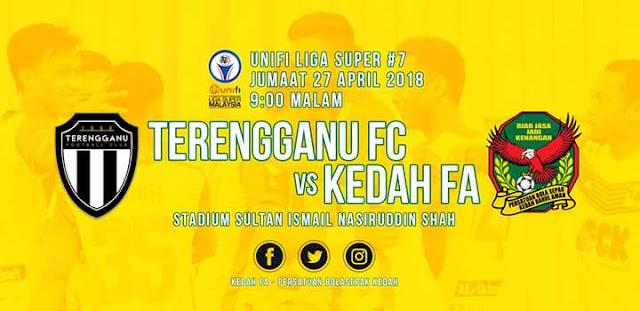Live Streaming Terengganu FC vs Kedah 27.4.2018 Liga Super