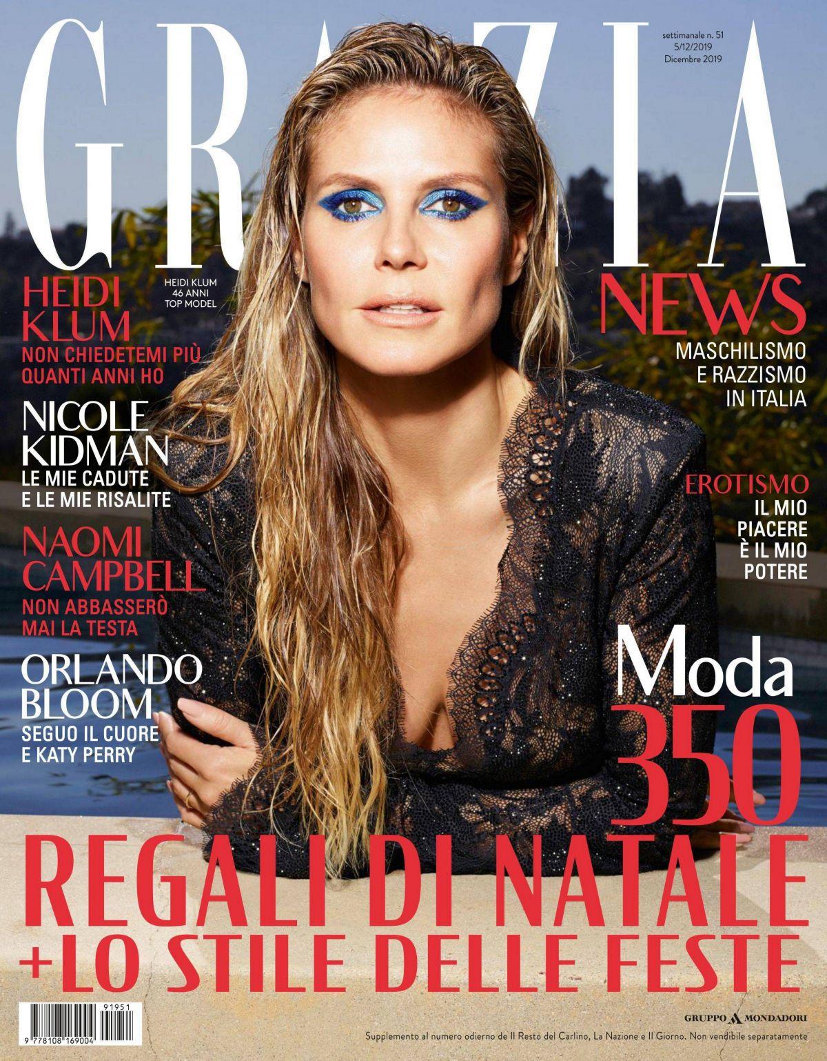 HEIDI KLUM in Grazia Magazine, Italy December 2019