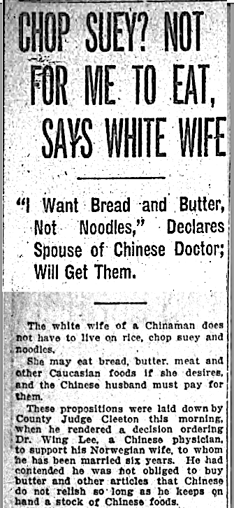 A Chinese American Historian By Chance: Chop Suey and