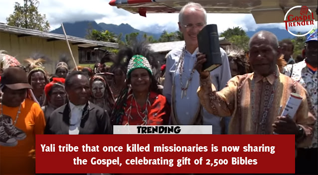 Yali tribe that once killed missionaries is now sharing the Gospel, celebrating gift of 2,500 Bibles