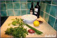 Salade de cocos frans de Paimpol aux herbes et citron.