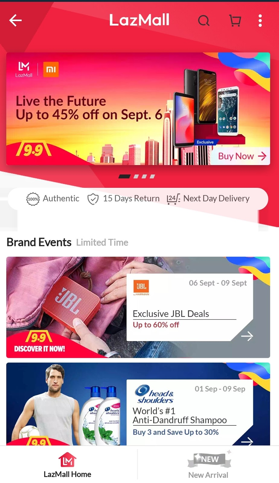 2a37714b5dc Lazada Unveils LazMall and Kicks Off with 9.9 Sale All the brands ...