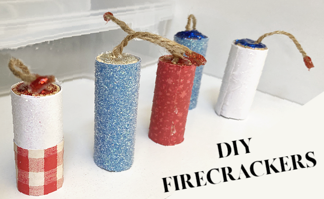 firecrackers with decorative paper