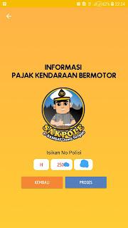 isi nomor polisi kendaraan