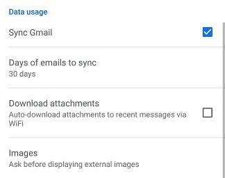gmail usage