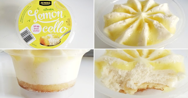 Jumbo lemoncello dessert cup limoncello sauce lemon mousse biscuit crust bottom