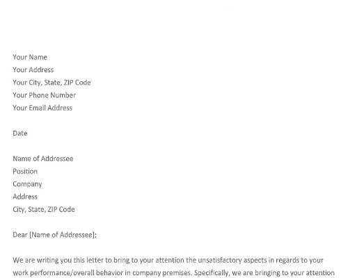 HR Warning Letter Template