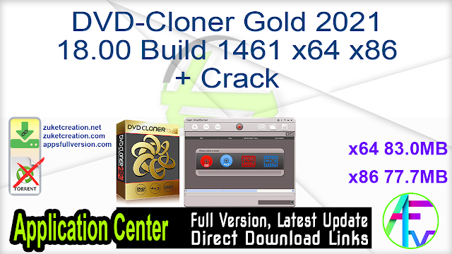 DVD-Cloner Gold 2021 18.00 Build 1461 x64 x86 + Crack