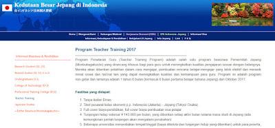 Beasiswa Program Teacher Training 2017 di Jepang