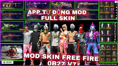MOD SKIN FF - HƯỚNG DẪN MOD FULL ĐỒ VIP V7 FREE FIRE MAX VÀ THƯỜNG VÀO TRẬN NHANH KHÔNG LỖI OB27