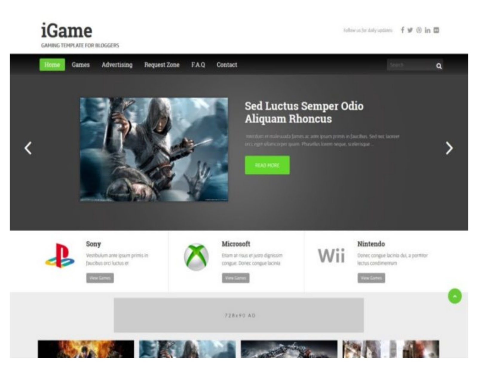 IGame Responsive Blogger Template