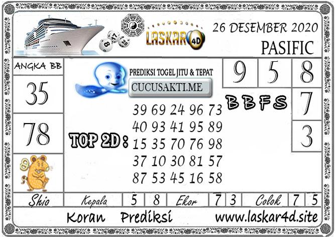 Prediksi Togel PASIFIC LASKAR4D 26 DESEMBER 2020