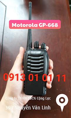Phân phối bán và cho thuê máy bộ đàm Motorola GP-668 giá rẻ
