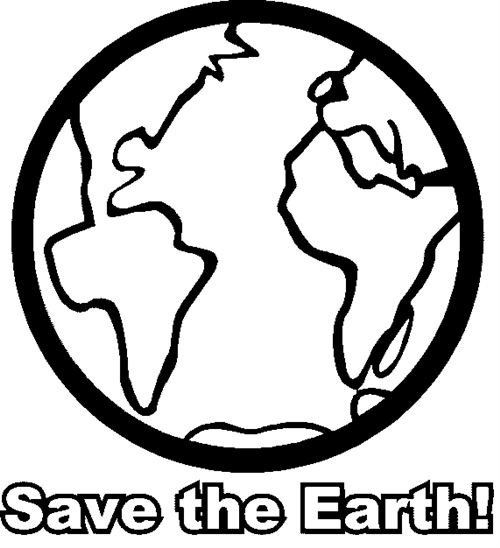 Best Free Earth Day Clip Art Black And White